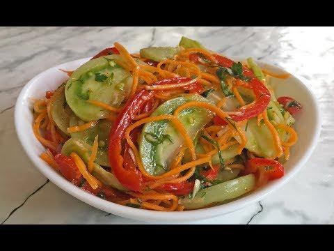 ЗЕЛЕНЫЕ ПОМИДОРЫ По-Корейски / Салат из Зеленых Помидор / Korean Green Tomatoes