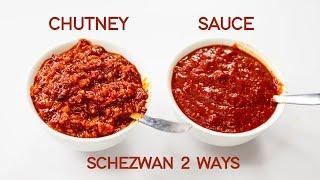 Schezwan Sauce VS Szechuan Chutney Recipe 2 Ways - CookingShooking