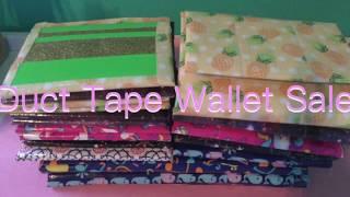 Duct Tape Wallet Sale! 2017 (open)
