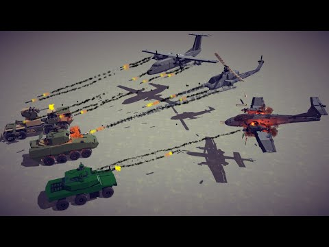 Attack Aircrafts vs Armored Vehicles #6   Besiege