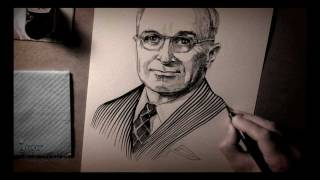 Portrait of Harry S. Truman (the 33rd President of the United States)