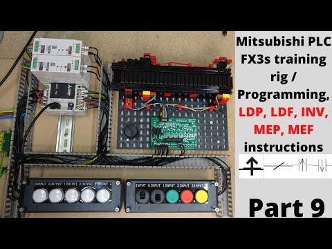 Mitsubishi PLC FX3s training rig / Programming, LDP, LDF, INV ...