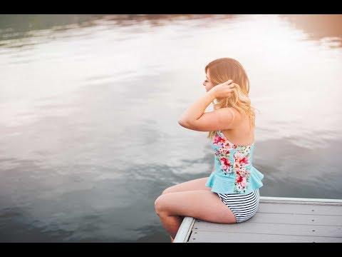 Modest two piece tankini, peplum style swimming suit LOOKBOOK