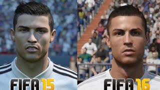 FIFA 16 vs FIFA 15: Player Faces (Real Madrid Player Faces FIFA 16 and FIFA 15 Comparison)