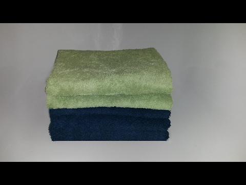 Handtücher platzsparend wie im Hotel falten & perfekt zusammenlegen / Handtuch Lifehack