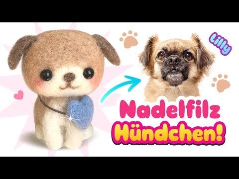 Mein HUND als PLÜSCHTIER 😍 DIY Hündchen 🐶 Wie macht man Nadelfilz Tiere! Tipps 2017 deutsch german