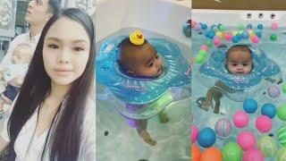 Bella Astillah Bawak Baby Ayden Pergi Baby Spa