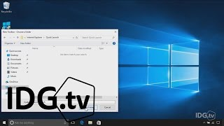 Get the Quick Launch Bar in Windows 10