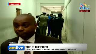 Governor Mike Sonko arrives at the Milimani law courts