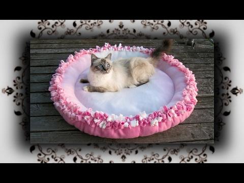DIY 😻 XL Knoten Kissen Bett für Katzen & Hunde | Knot cushion bed for Cats & Dogs