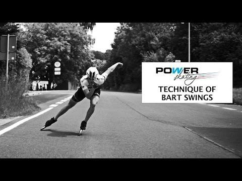 Bart Swings Inline Skate Double Push Technique Slowmotion - Powerslide Powerskating 13