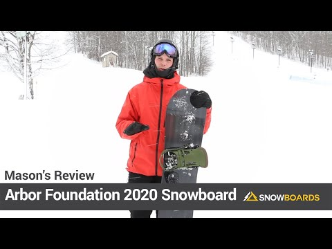 Video: Arbor Foundation Snowboard 2020 15 50