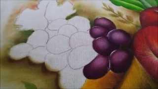 Pintura em tecido uvas Nº 1 – Nível iniciante igual ao meu