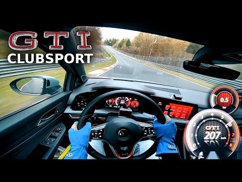 FAST LAP VW GOLF 8 GTI Clubsport Nordschleife  POV | Fahr doch
