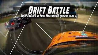 Drift Battle : BMW E46 M3 vs Mustang GT [GoPro Hero 3]