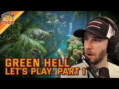 LET'S PLAY: Green Hell Part 1 - chocoTaco and Reid Green Hell Gameplay