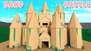 I Built A GIANT Sand Castle Mansion In Bloxburg! (Roblox)