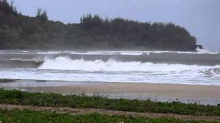Middles surf from Pine Trees, Hanalei, Kauai