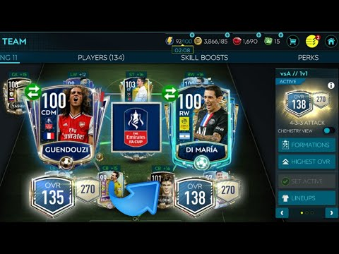 insane emirates fa cup event pack luck road to 140 ovr insane team upgrade fifa mobile 20
