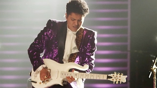 Bruno Mars STEALS the 2017 Grammys in Prince 'Let's Go Crazy' Tribute Performance