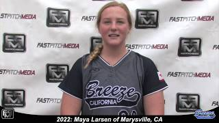 2022 Maya Larsen First Base Softball Skills Video - Ca Breeze