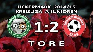preview picture of video 'STORKOW/VIETMANNSDORF - E.HASSLEBEN 1:2 - Tore [A-Junioren-Kreisliga UM 2014/15]'