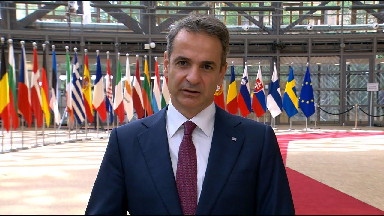 Δήλωση Κυριάκου Μητσοτάκη κατά την άφιξή του στην τρίτη ημέρα εργασιών του Ευρωπαϊκού Συμβουλίου