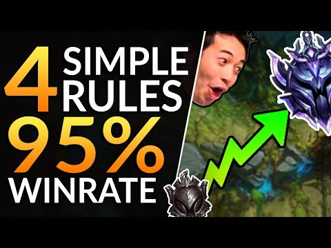 THE 4 PROVEN RULES for a 95% WINRATE - FASTEST Diamond RankLeague of Legends Pro Guide