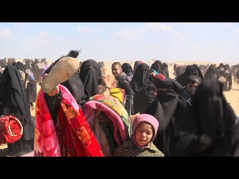 Civilians continued to emerge Wednesday from Baghouz, the last shred of territory held by the Islamic State group in Syria, including some defiant wives and children of militants from the extremist group. (March 6)