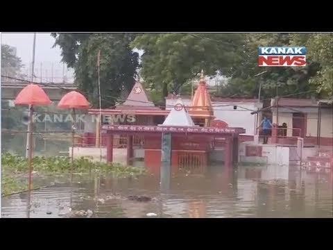 Water Level of River Ganga Increases Continuously At Varanasi In UP