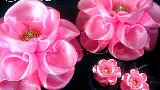 Пышный бант из ленты / Мастер-класс / DIY Hair Bow / Beautiful Ribbon Bow / Bow Tutorial / Kanzashi