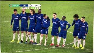 Chelsea vs Tottenham penalty shoutout 4-2 (1/24/2019)