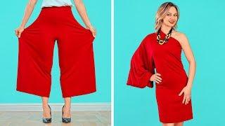 फैशन हैक्स और कपड़ो के DIY ट्रिक्स || 123 GO ! के स्मार्ट टिप्स लड़कियों के लिए