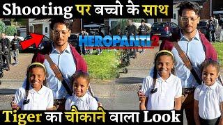 On Heropanti 2 Shooting Set Tiger Shroff New Shocking Look With Kids