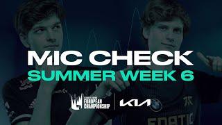 LEC : le Mic Check de la semaine 6 du Summer Split 2021