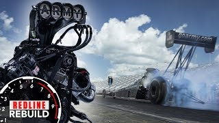 What goes into rebuilding an 11,000-hp Top Fuel dragster engine?   Redline Rebuilds Explained - S2E3