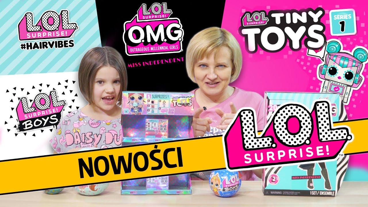 Nowości LOL Suprise , LOL Tiny Toys, LOL #HairVibes, LOL Boys