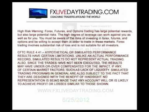 FX Live Day Trading Live Forex Trading Room Results | 6/25/2012