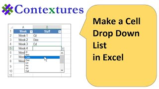 Make a Cell Drop Down List in Excel for Easy Data Entry