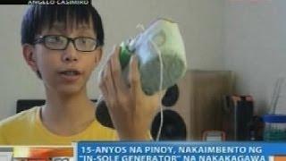 NTG: 15-anyos na Pinoy, nakaimbento ng 'in-sole generator' na nakakagawa ng kuryente