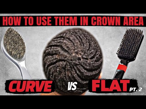 360 Waves: Truth About FLAT vs CURVE Brushes   BEST Way To