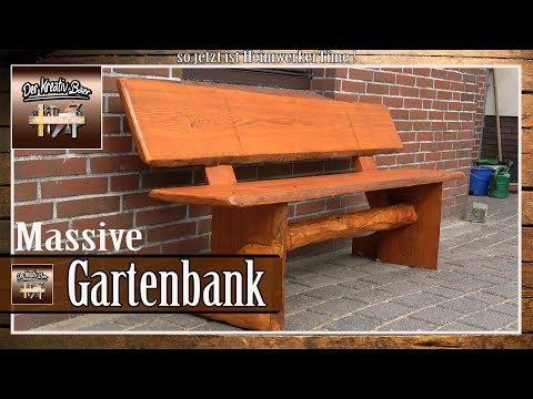✅ Massive Gartenbank aus Holz selber bauen   selber machen