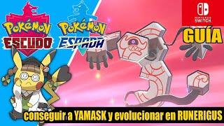 Runerigus  - (Pokémon) - Cómo conseguir a YAMASK y evolucionar en RUNERIGUS  - POKÉMON ESPADA Y ESCUDO