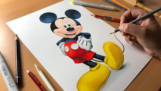 Drawing Mickey Mouse - Timelapse | Artology