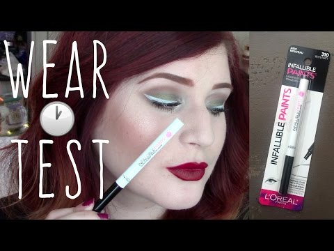 LOREAL INFALLIBLE PAINTS EYELINER LASTING IMPRESSION REVIEW