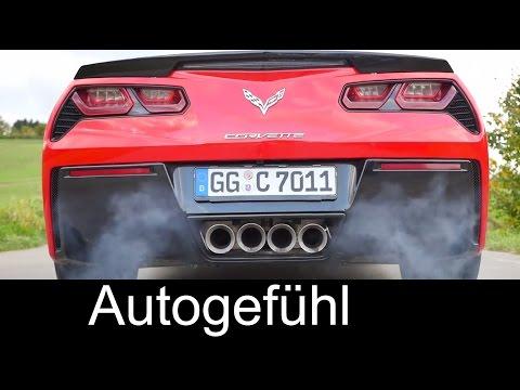 Corvette C7 Stingray acceleration test 0-100 / 0-200 km/h 0-60 / 0-125 mph manual gear shift