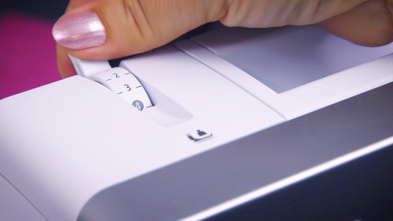 L 860 Overlocker: How to Adjust Presser Foot Pressure