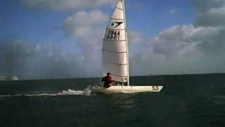 Simon and Liam sailing in Sandown Bay