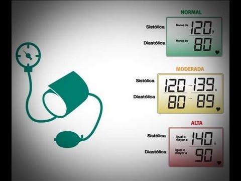 Hipertensión diastólica alta se caracteriza por