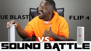 UE Blast vs JBL Flip 4 :Sound Battle